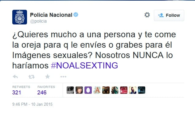 sexting policia