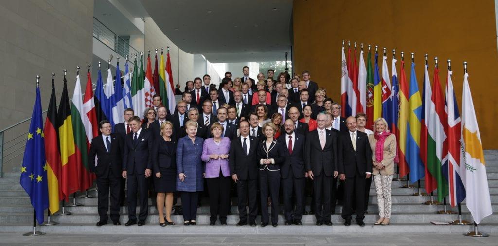 Un encuentro de la Unión Europea en Alemania, 2013.